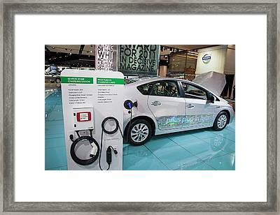 Toyota Prius Electric Car Framed Print by Jim West