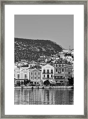 Traditional Buildings In Mytilini Framed Print