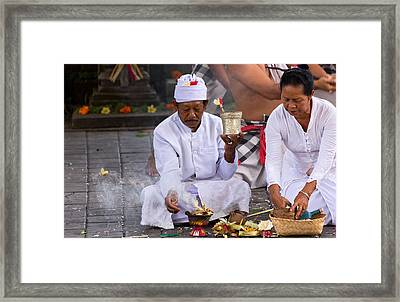 Traditional Dance - Bali Framed Print