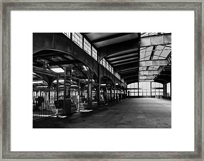 Train Station Framed Print by Wayne Gill
