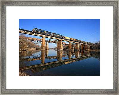 2 Trains 2 Trestles Cayce South Carolina Framed Print