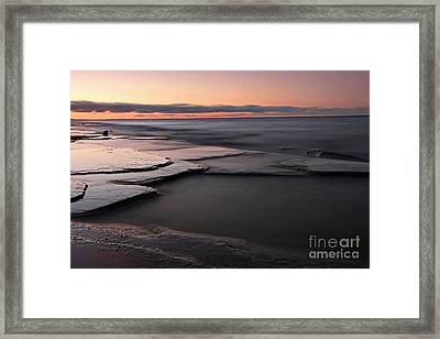 Tranquil Beach Framed Print by Charline Xia