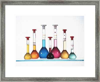 Transition Metal Compound Solutions Framed Print