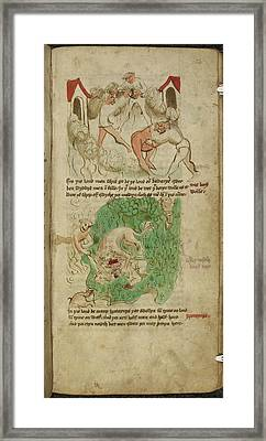 Travels Of Sir John De Mandeville Framed Print by British Library