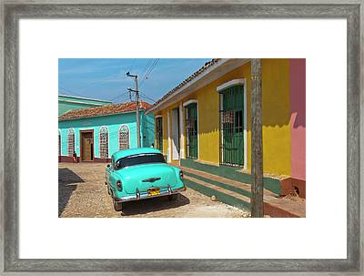Trinidad, Cuba, With Blue Classic 1950s Framed Print