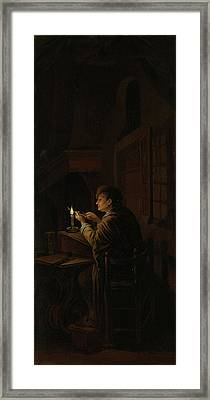 Triptych With An Allegory Of Art Education Framed Print