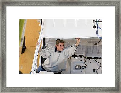 Truck Assembly Production Line Framed Print