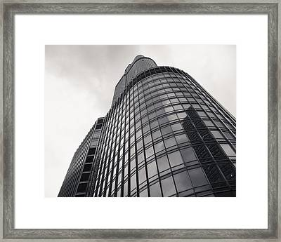 Trump Tower Chicago Framed Print by Adam Romanowicz