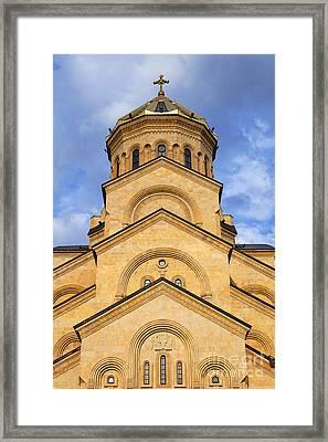 Tsminda Sameba Cathedral Tbilisi Framed Print by Robert Preston