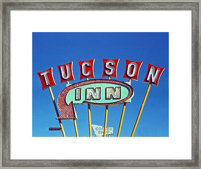 Tucson Inn Framed Print by Matthew Bamberg