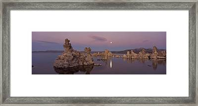 Tufa Formations In A Lake, Mono Lake Framed Print by Panoramic Images