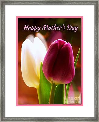 2 Tulips For Mother's Day Framed Print