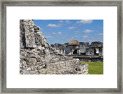 Tulum Mayan Ruins In Mexico Framed Print by Brandon Bourdages