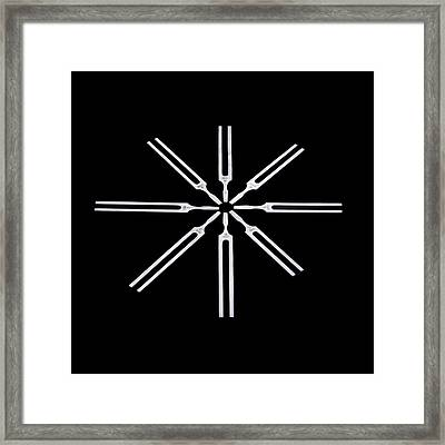 Tuning Forks Framed Print by Science Photo Library