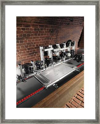 Tunnel Inspection System Simulator Framed Print by Andrew Brookes, National Physical Laboratory