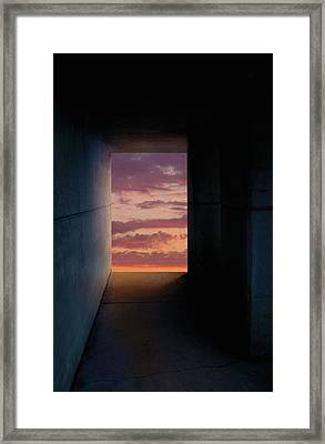 Tunnel With Light Framed Print by Melinda Fawver