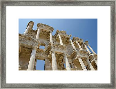 Turkey, Ephesus Celsus Library, Built Framed Print