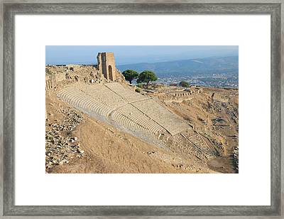Turkey, Izmir Province, Bergama Framed Print