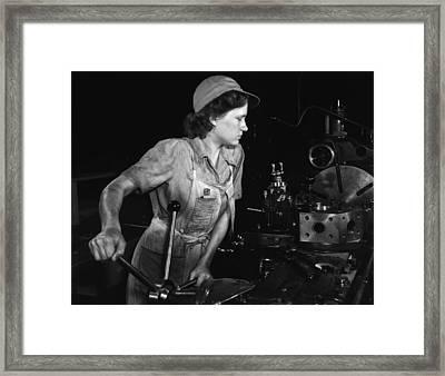 Turret Lathe Operator - 1942 Framed Print