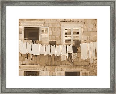 Tuscan Laundry Framed Print