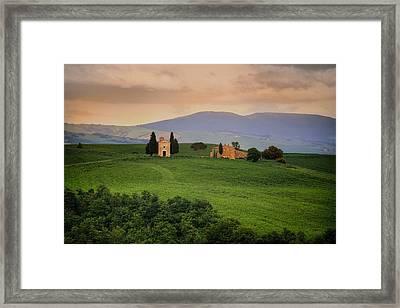 Tuscany - Cappella Di Vitaleta Framed Print by Joana Kruse