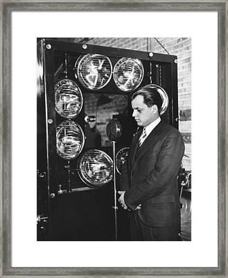 Tv Pioneer Ulises Sanabria Framed Print by Underwood Archives