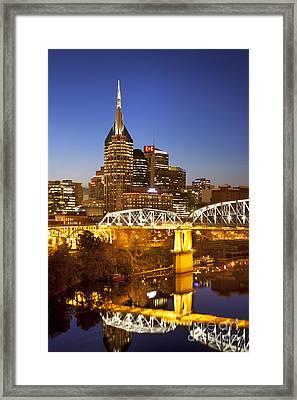 Twilight Over Nashville Tennessee Framed Print by Brian Jannsen