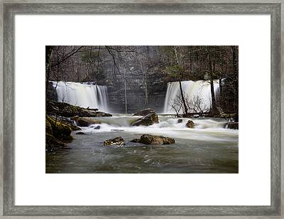 Twin Devil Falls Framed Print by Kurt Jones