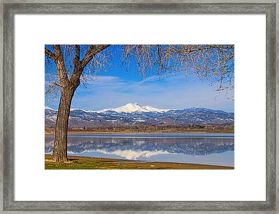 Twin Peaks Longs And Meeker Lake Reflection Framed Print by James BO  Insogna