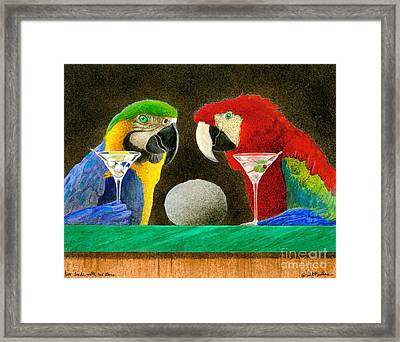 Two Birds With One Stone... Framed Print by Will Bullas