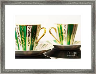 Two Coffee Cups Framed Print by Aleksey Tugolukov