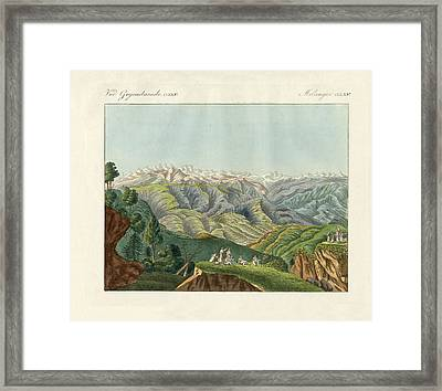 Two Views Of The Himalayas Framed Print by Splendid Art Prints