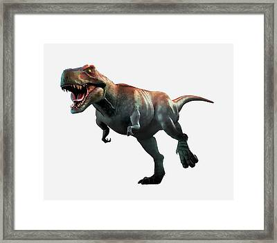 Tyrannosaurus Rex Artwork Framed Print by Mark Garlick