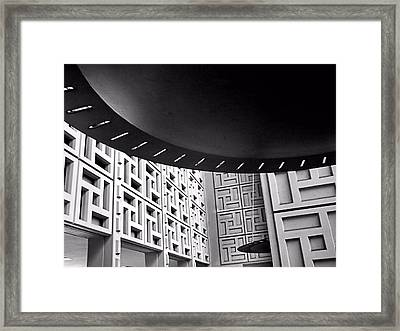 Framed Print featuring the photograph Ufos In A Maze by Bob Wall