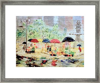 Umbrellas And Flowers   Framed Print by Rick Todaro