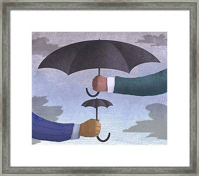 2 Umbrellas  Framed Print