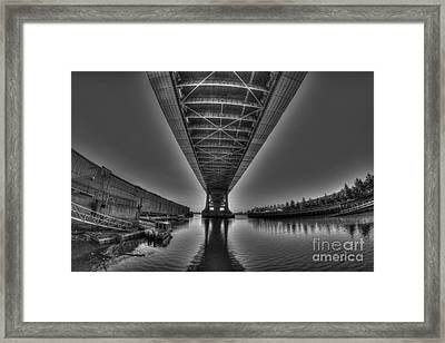 Under The Bridge Framed Print by Mark Ayzenberg