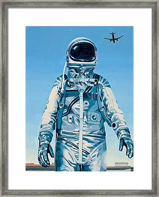 Framed Print featuring the painting Under The Flight Path by Scott Listfield