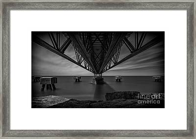 Under The Pier Framed Print by James Dean