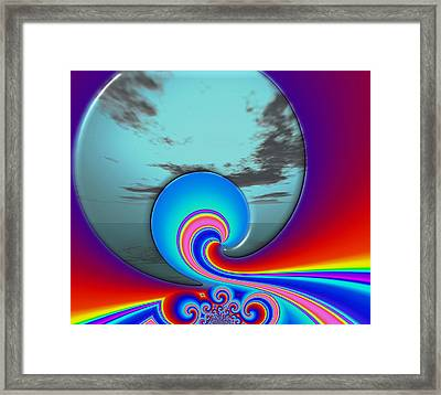 Unexpected Encounter Framed Print by Wendy J St Christopher