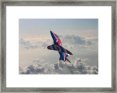 Union Jack Hawk Framed Print