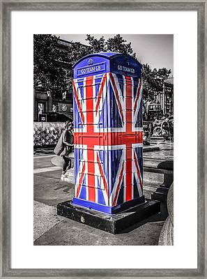 Union Jack Phone Framed Print