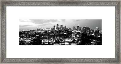 Union Station At Sunset With City Framed Print