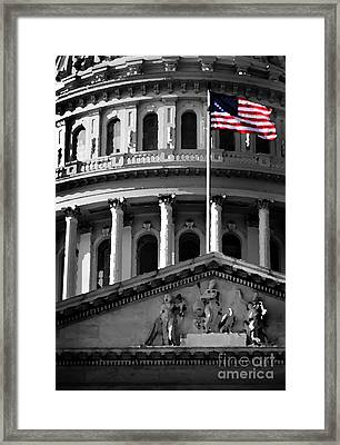 United State Capitol Building Framed Print by Lane Erickson