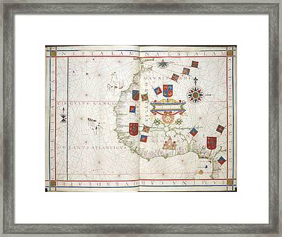 Universalis Orbis Hydrographia Framed Print by British Library