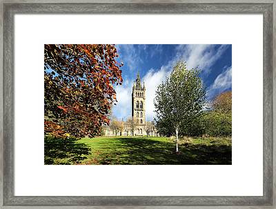 University Of Glasgow Framed Print
