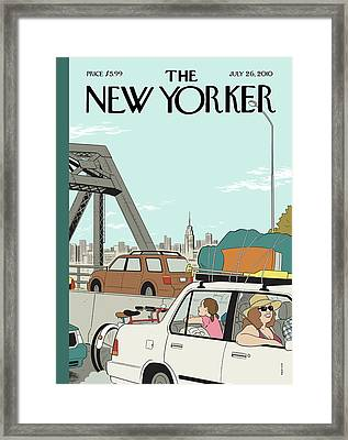 New Yorker July 26th, 2010 Framed Print by Adrian Tomine