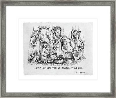 Late In Life Framed Print by Arthur Geisert