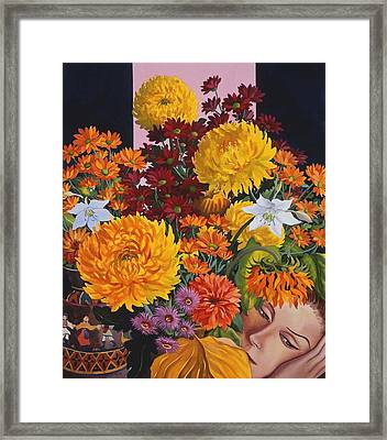 Painting In October Framed Print by Christopher Ryland