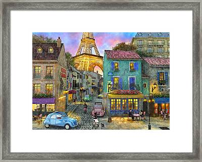 The Venetian Sunset Framed Print by Dominic Davison